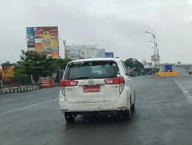 Toyota Innova CNG Petrol Spotted While Testing