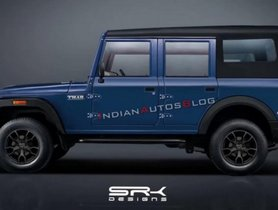 New-Gen Mahindra Thar 4-Door Side Profile Rendered