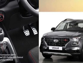 Hyundai Venue iMT Launched, Costs Rs 22,000 More Than Manual Transmission Model