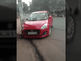 Maruti Swift Crashes While Drifting On A Busy Road, None Injured