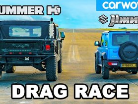 Suzuki Jimny Vs Hummer H1 Quarter Mile Drag Race