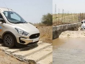 Ford Freestyle Easily Goes Down Stairs And Water-filled Ditches