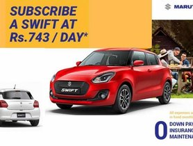 Buy A Brand New Maruti Swift By Just Paying Rs 711 Per Day