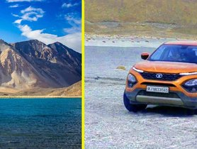 This is the First Tata Harrier To Reach Pangong Tso Lake