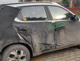 Kia Sonet GT Line Spotted with Reduced Camouflage