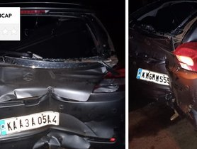 Maruti Baleno (2-star NCAP) Hit by Fully-loaded Tata Ace, All Safe