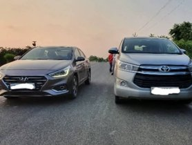 Toyota Innova Crysta 2.8 VS Hyundai Verna 1.6 In A Drag Race