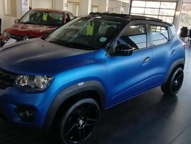 This Renault Kwid Looks Terrific with MATTE BLUE Paint
