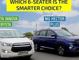MG Hector Plus vs Toyota Innova Crysta – The Battle of Big & Badass