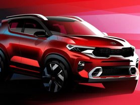 Kia Sonet Official Sketches Revealed Prior To Its Official Launch Next Month
