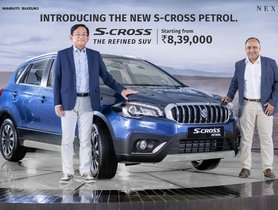 Maruti S-Cross Petrol Launched - Complete Details