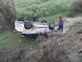 Hyundai i20 Rolls Over Many Times At 125 Kmph, All Occupants Safe