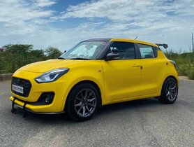 Take A Look At This Bumblebee-inspired Modified Maruti Swift
