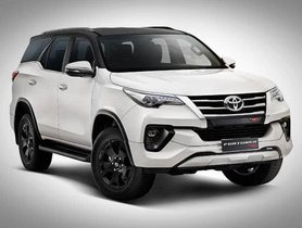 Toyota Fortuner TRD Limited Edition Launched At INR 34.98 Lakh In India