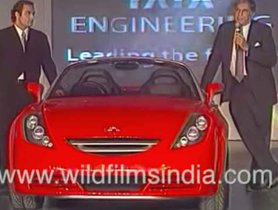 Blast from the Past- Unveiling of Tata Aria Convertible by Ratan Tata and Akshay Khanna