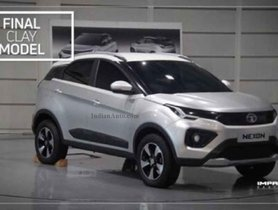 Tata Nexon Facelift's Final Clay Model Looks Slightly Different from the Actual Car