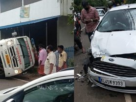 Ambulance Rolls Over Ford Figo (4-star L-NCAP), All Passengers Safe