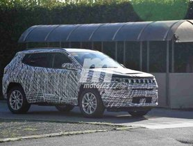 Upcoming Jeep Compass Facelift Spied Testing