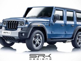 2020 Mahindra Thar 4-Door Rendered Digitally