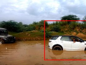 Mahindra Thar Rescues a Stuck Land Rover Discovery