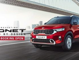 Pre-bookings For Kia Sonet Commence At Rs. 25,000 Only, Launch Next Month