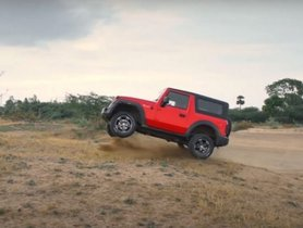 2020 Mahindra Thar Shows Off Its Off-Road Capabilities