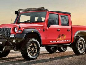 New-gen Mahindra Thar 6x6 Imagined - BADASS REDEFINED