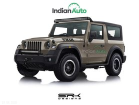 Check Out New-Gen Mahindra Thar With Jeep Grille and Some Subtle Mods