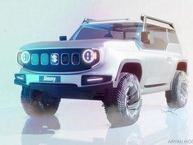 Maruti Suzuki Jimny EV Imagined Digitally