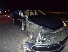 Tesla On Autopilot Mode Crashes Into Two Police Vehicles
