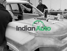 First Images of Tata Sierra Concept Clay Model at Design Studio