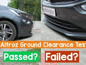 Tata Altroz Ground Clearance Test - VIDEO