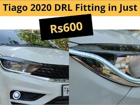 This Tata Tiago Facelift Gets LED DRLs For Rs 600 Only