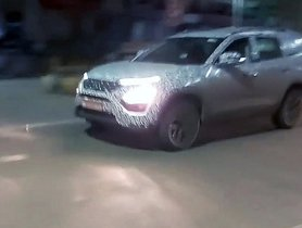 Tata Gravitas Spied Undergoing Night-Time Testing In Pune