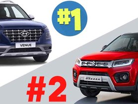 Hyundai Venue Outsells Maruti Vitara Brezza in August 2020