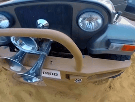 Here's a Mahindra Thar Fitted with Train Horn Worth Rs 1 Lakh