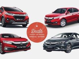 Honda September 2020 Car Offers & Discounts - Jazz, Amaze, City, WR-V and Cvic