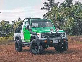 Green Goblin, A Modified Maruti Gypsy With Equal Amount of Show & Go