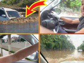 Watch Toyota Fortuner Swimming Past a Stuck Audi Q3