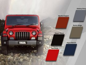 New-Gen Mahindra Thar Trim Wise Paint Options Revealed