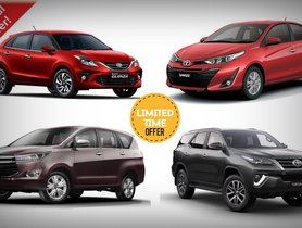 Toyota September 2020 Car Offers & Discounts - Fortuner to Glanza