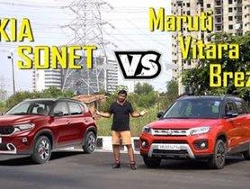 Kia Sonet vs Maruti Vitara Brezza: Design, Specs, Feature Comparison [VIDEO]