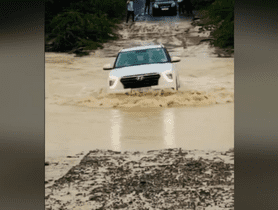 2020 Hyundai Creta Crosses Fast-flowing River, Shows Its Water Wading Capability