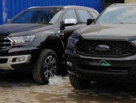 Check Out 2020 Ford Endeavour Sport Edition Parked Alongside Regular Model