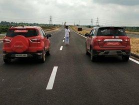 Maruti Vitara Brezza VS Ford EcoSport In A CLASSIC Drag Race - Surprise Winner!