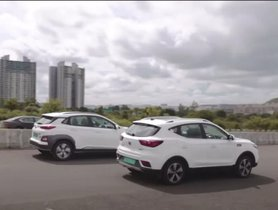 Hyundai Kona EV vs MG ZS EV In A Drag Race