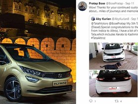 Pratap Bose Thanks Customer for Choosing Tata Altroz, his 5th Tata Car!