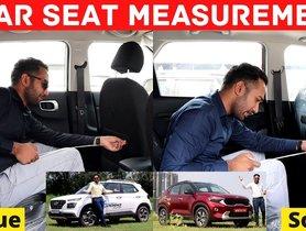 Kia Sonet vs Hyundai Venue Rear Space Comparison – Video