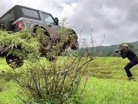 2020 Mahindra Thar Attempts A High Jump, To Show-off Off-road Prowess