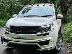 Nicely-modified Mahindra XUV500 Sits on Massive 20-inch Rims With Low-profile Tyres